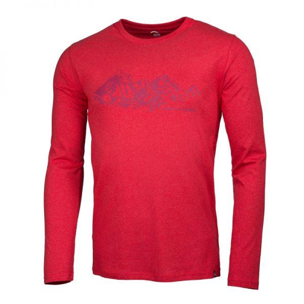 NORTHFINDER pánske tričko cotton ridge melange BENITO 4