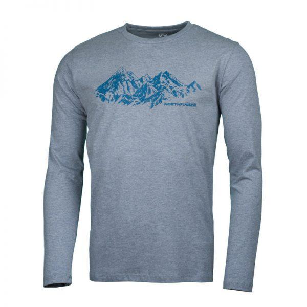 NORTHFINDER pánske tričko cotton ridge melange BENITO 5