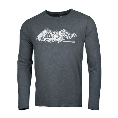 NORTHFINDER pánske tričko cotton ridge melange BENITO 9