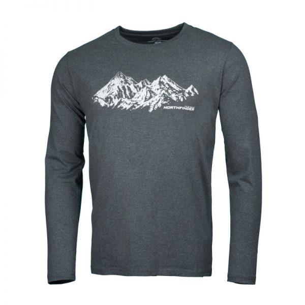NORTHFINDER pánske tričko cotton ridge melange BENITO 6