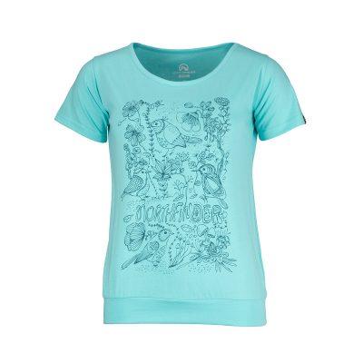 TR-4492OR dámske tričko bavlnené floral ANTINGONA 13