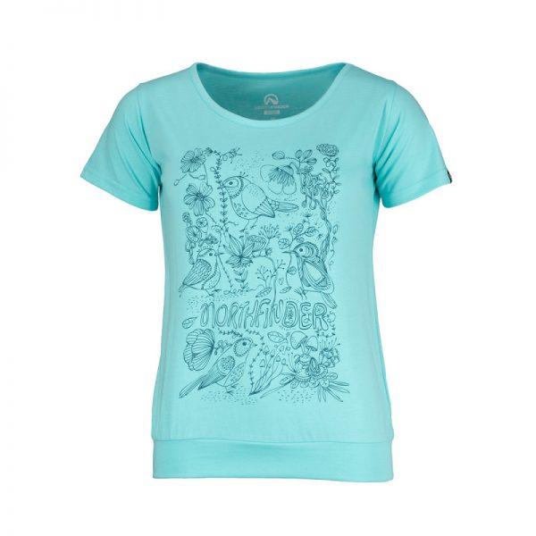 TR-4492OR dámske tričko bavlnené floral ANTINGONA 7