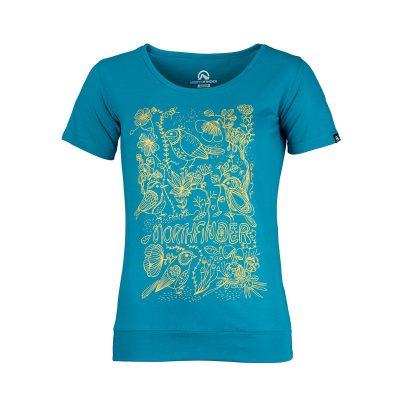 TR-4492OR dámske tričko bavlnené floral ANTINGONA 14