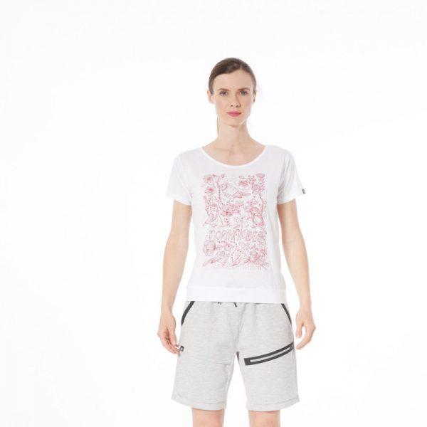 TR-4492OR dámske tričko bavlnené floral ANTINGONA 3